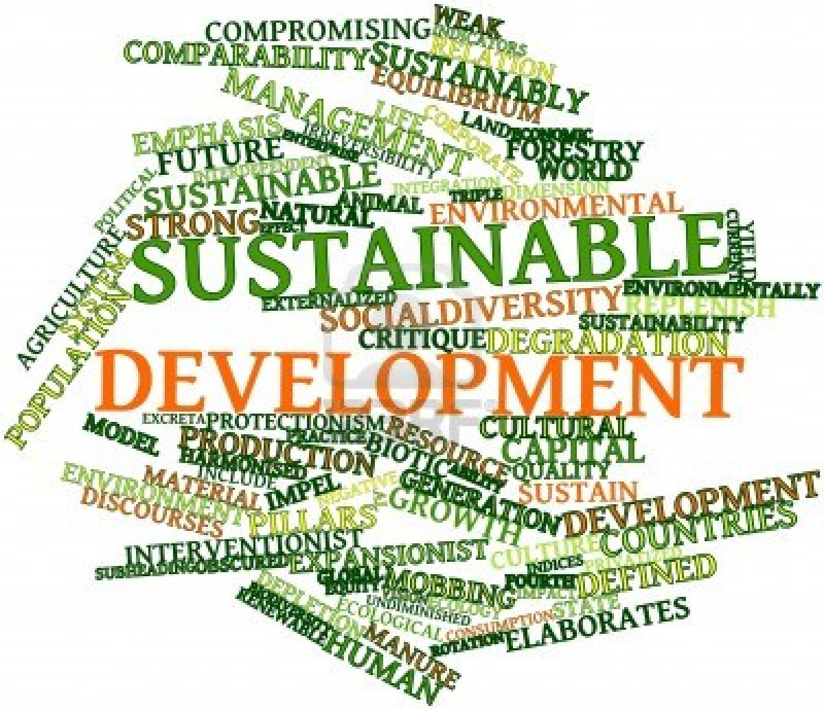 development of sustainable technologies and their adoption There's no alternative to sustainable development even so, many companies are convinced that the more environment-friendly they become, the more the effort will erode their competitiveness.